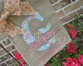 Summer Yard/Garden Burlap Flag