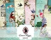 75% OFF SALE BOOKMARK Digital collage sheet Shabby Romance printable download shabby chic scrapbooking ephemera