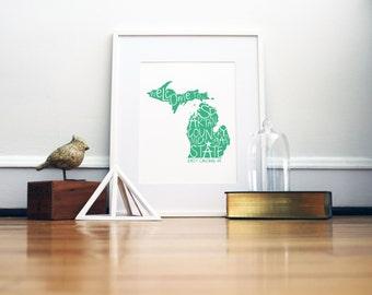 Michigan State Spartans Print