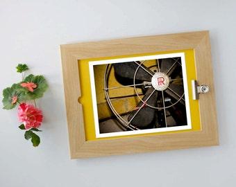 Vintage Fan, Fine Art Photo, Australiana Print, Old Objects, Rust, Mustard Yellow, 8x10, Rusty Metal, Industrial Style, Macro Photography