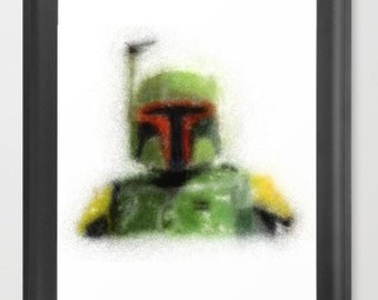 Boba Fett INSTANT DOWNLOAD - Star Wars, Return of the Jedi, Empire Strikes Back, Father's Day, present, gift ideas, bounty hunter