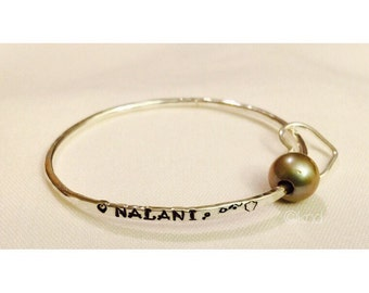 CHILD Stamped Silver Filled Size Bangle