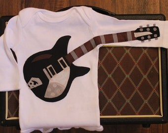 Rockin' Black Electric Guitar Bodysuit - Kid Clothes