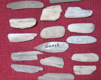 Flat Drift Wood Pieces, Driftwood, Craft Supplies, DIY Ornaments, Escort Cards, Beach Wedding Decor, Small Place Cards