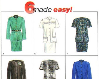 Pick A Size - Simplicity Separates Pattern 7371 - Misses' Two Piece Dress - Jacket and Skirt in Six Variations - Simplicity Patterns