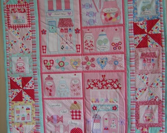 Candy Shop Quilted Wall Hanging