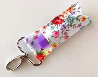 Lip Balm Holder - Chap Stick Holder - USB Holder - Floral Lip Balm Holder - Vintage Flowers
