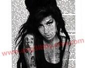 Amy Winehouse 2 Dictionary Print