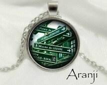 Paris street pendant, Paris street necklace, Paris necklace, Paris pendant, Paris Art Pendant BUY 2, GET 1 FREE