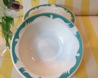 Homer Laughlin Restaurant Ware Vintage Ceramic Berry Bowls Set Of Two Dessert Bowls