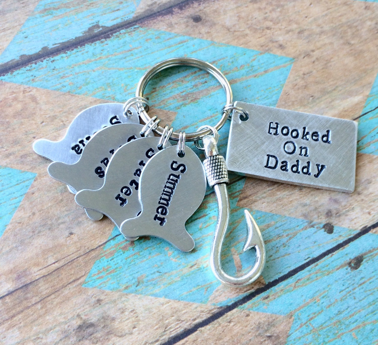 daddy keychain father 39 s day gift dads best catch. Black Bedroom Furniture Sets. Home Design Ideas