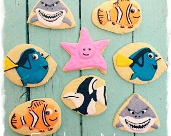 SALE-Finding Nemo Sugar Cookie Favors-Finding Nemo birthday-Finding Nemo party