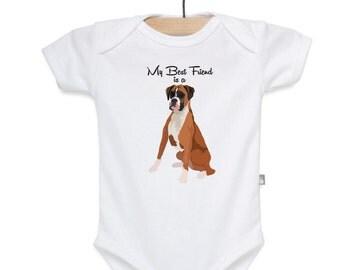 Boxer Shirt, Boxer Bodysuit, Dog Shirt, Dog Bodysuit, Best Friend is a Boxer Shirt, Best Friend Bodysuit