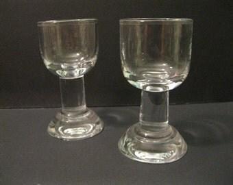 Scarce Holmegaard Denmark Glass Christianshavner Schnapps, Liqueur, Aquavit Glasses