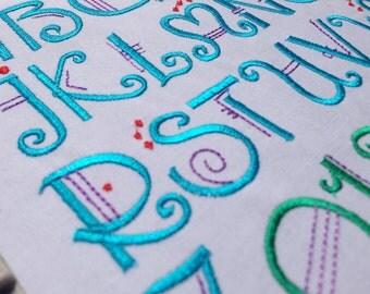 Machine Embroidery Amadeus Font