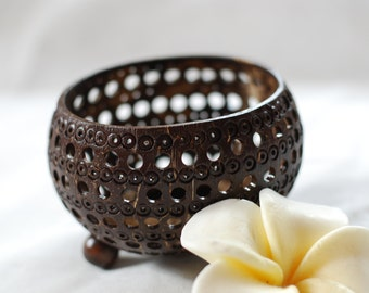Handmade Coconut Shell Candle holder/Candle holder/home decoration/rustic decoration