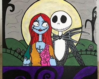 Nightmare before Christmas acrylic painting