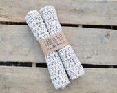 Speckled Cream Crochet Dish/Wash Cloth (Set of 2)
