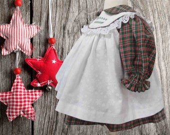 Baby, Country Christmas, Pinafore and Dress Set, Vintage, Classic