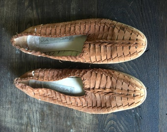 Italian Suede / Leather Woven Flats