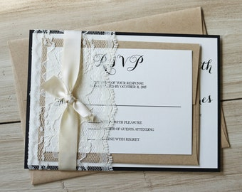 Rustic wedding invitation Etsy