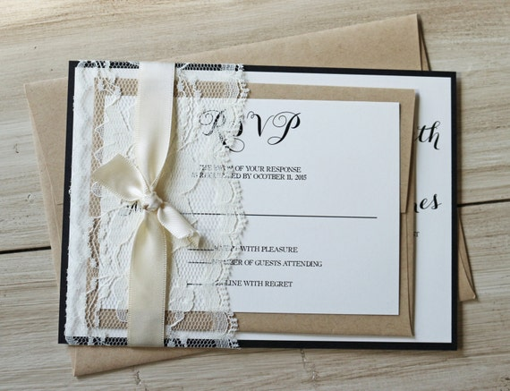wedding invitation elegant lace wedding invitation lace wedding