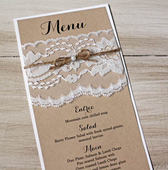 Simple Rustic Wedding Ideas: Items Similar To Rustic Wedding, Wedding Menus