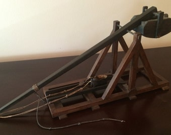 Miniature Trebuchet Hand made Vintage Working Model