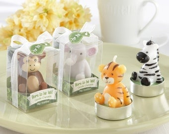 "24 -  ""Born to be Wild"" Animal Candles (6 Sets of 4, Assorted)"