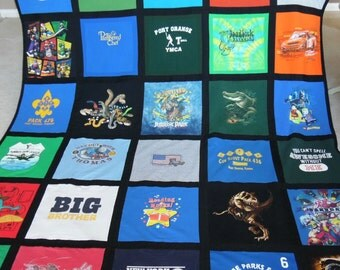 Custom Tshirt Blanket - Assorted colors - Tshirt Blanket - Free Shipping