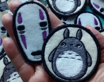 Totoro and No Face Sew On Patches