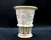 Thuringia Germany   Porcelain Vase Relief   Sitzendorf ~ 1954