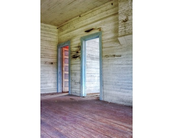 Abandoned Places, Rustic Home Decor, abandoned house, forgotten places, abandonded farmstead, Fine Art Photography, Large Wall Art