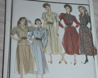 Style 1441 Misses Skirt and Blouse Sewing Pattern - UNCUT - Size 14