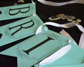 Bride To Be Banner in blue
