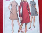 Vintage Simplicity 7796 Sewing Pattern Size 18 Bust 40 A LIne Dress 1960s Fashions ALL 10 Pattern Pieces
