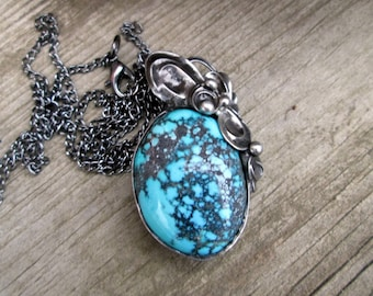 metal pendant with Turquoise