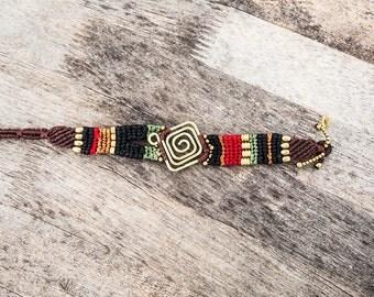 Colorful Funky Macrame Bracelet