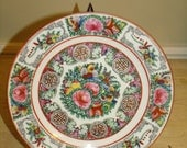 ANTIQUE/VINTAGE 60's Chinese Export Hand Painted  Famille Rose Plate 10 ""