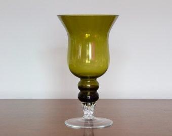Empoli Verde Goblet Vase