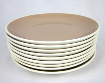 Vintage Harkerware Dessert or Salad Plate, Pinkish Brown, Mid Century Replacement China