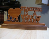 Teaching Is A Work Of Heart Hand Cut Wood Sign