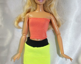 Skirt for Barbie- yellow