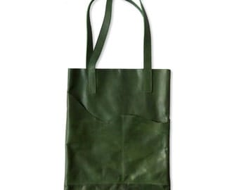Leather 'Notebook' Tote Bag