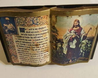 Bible Display Book, knicknack, Jesus Photo, free shipping