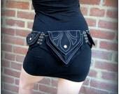 Utility Belt, Festival Belt, Pocket Belt, Hip Belt Bag ~ Burning Man Belt ~ Vegan cotton canvas ~ can adjust to extra large ~ 6 colors