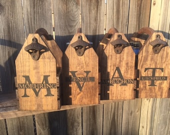 Nine Personalized groomsmen wedding gift for dmcords Rustic 6-pack beer bottle carrier
