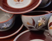 """Stangl """"Golden Harvest"""" - Set of Four Cups and Four Saucers"""