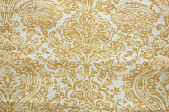 PREMIER PRINTS FABRIC Shiloh Macon Saffron Yellow Home Decor