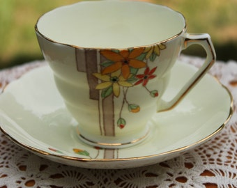 SAMUEL RADFORD FENTON Bone China Teacup and Saucer Set